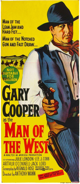 Man of the West - 13 x 30 Movie Poster - Australian Style A