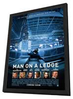 Man on a Ledge - 27 x 40 Movie Poster - Style A - in Deluxe Wood Frame