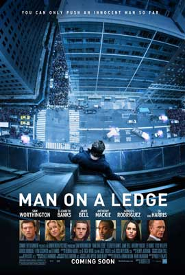 Man on a Ledge - 43 x 62 Movie Poster - Bus Shelter Style A