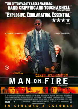 Man on Fire - 27 x 40 Movie Poster - UK Style A