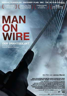 Man on Wire - 27 x 40 Movie Poster - German Style A