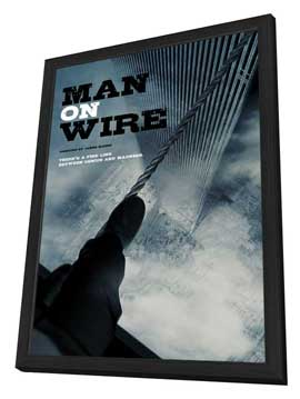Man on Wire - 11 x 17 Movie Poster - Style B - in Deluxe Wood Frame