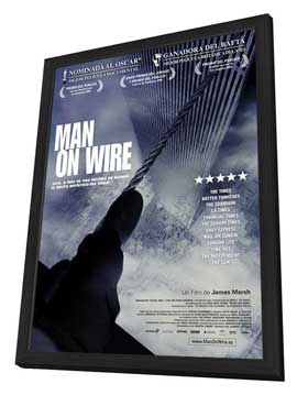 Man on Wire - 27 x 40 Movie Poster - Spanish Style A - in Deluxe Wood Frame