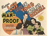 Man-Proof - 22 x 28 Movie Poster - Half Sheet Style A