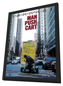 Man Push Cart - 11 x 17 Movie Poster - Style A - in Deluxe Wood Frame