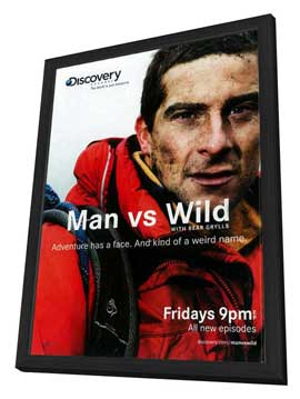 Man vs. Wild - 27 x 40 TV Poster - Style A - in Deluxe Wood Frame