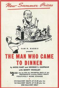 Man Who Came to Dinner, The (Broadway) - 11 x 17 Poster - Style A
