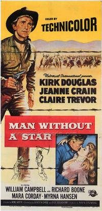 Man Without a Star - 43 x 62 Movie Poster - Bus Shelter Style A