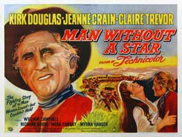 Man Without a Star - 30 x 40 Movie Poster UK - Style A