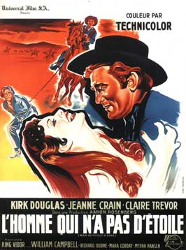Man Without a Star - 27 x 40 Movie Poster - French Style B