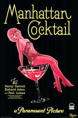 Manhattan Cocktail - 11 x 17 Movie Poster - Style B