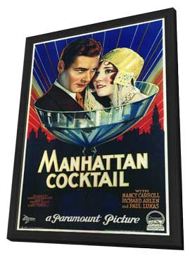 Manhattan Cocktail - 11 x 17 Movie Poster - Style A - in Deluxe Wood Frame
