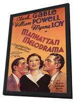 Manhattan Melodrama - 27 x 40 Movie Poster - Style B - in Deluxe Wood Frame