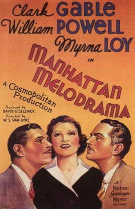 Manhattan Melodrama - 11 x 17 Movie Poster - Style B
