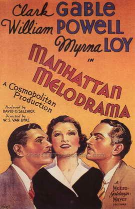Manhattan Melodrama - 27 x 40 Movie Poster - Style B