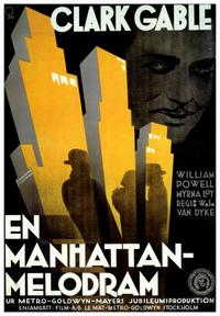 Manhattan Melodrama - 43 x 62 Movie Poster - Bus Shelter Style A