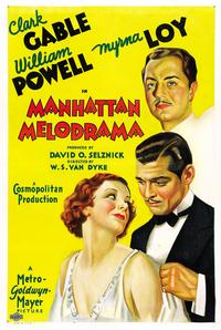 Manhattan Melodrama - 43 x 62 Movie Poster - Bus Shelter Style B
