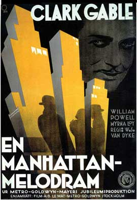 Manhattan Melodrama - 11 x 17 Movie Poster - Swedish Style A