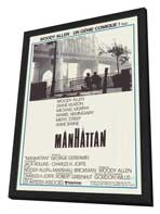 Manhattan - 11 x 17 Movie Poster - French Style A - in Deluxe Wood Frame