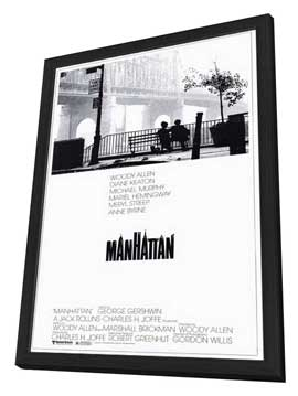 Manhattan - 11 x 17 Movie Poster - Style A - in Deluxe Wood Frame