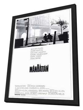 Manhattan - 27 x 40 Movie Poster - Style A - in Deluxe Wood Frame