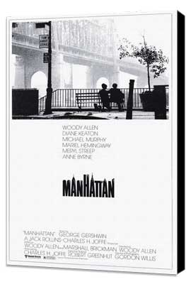 Manhattan - 11 x 17 Movie Poster - Style A - Museum Wrapped Canvas