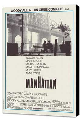 Manhattan - 11 x 17 Movie Poster - French Style A - Museum Wrapped Canvas