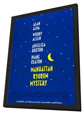 Manhattan Murder Mystery - 27 x 40 Movie Poster - Style A - in Deluxe Wood Frame