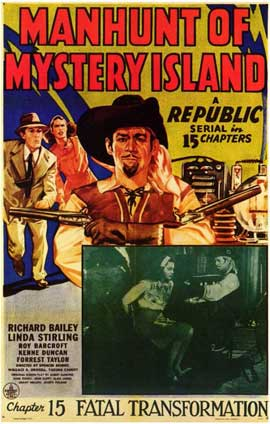 Manhunt of Mystery Island - 11 x 17 Movie Poster - Style A