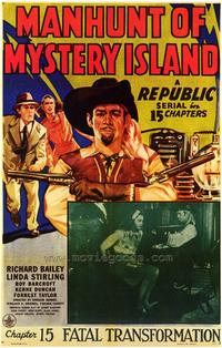 Manhunt of Mystery Island - 43 x 62 Movie Poster - Bus Shelter Style A