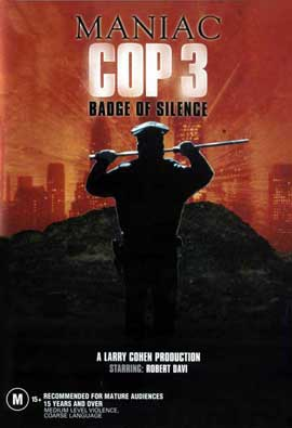 Maniac Cop 3: Badge of Silence - 11 x 17 Movie Poster - Style A