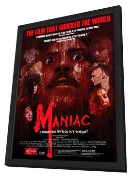 Maniac - 27 x 40 Movie Poster - Style A - in Deluxe Wood Frame