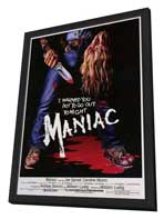 Maniac - 11 x 17 Movie Poster - Style A - in Deluxe Wood Frame