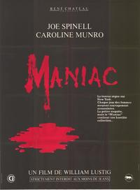 Maniac - 11 x 17 Movie Poster - French Style A