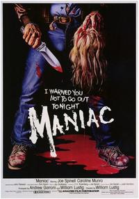 Maniac - 11 x 17 Movie Poster - Style A - Museum Wrapped Canvas