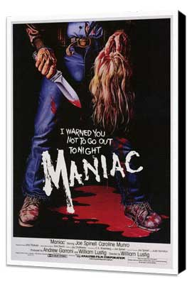 Maniac - 27 x 40 Movie Poster - Style A - Museum Wrapped Canvas