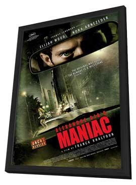 Maniac - 27 x 40 Movie Poster - Swiss Style A - in Deluxe Wood Frame