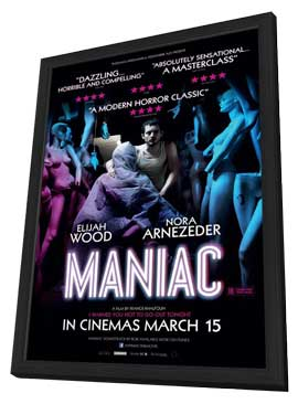 Maniac - 11 x 17 Movie Poster - UK Style A - in Deluxe Wood Frame
