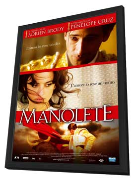Manolete - 11 x 17 Movie Poster - Italian Style A - in Deluxe Wood Frame