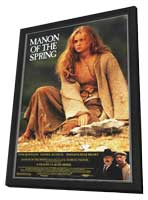 Manon of the Spring - 11 x 17 Movie Poster - Style A - in Deluxe Wood Frame