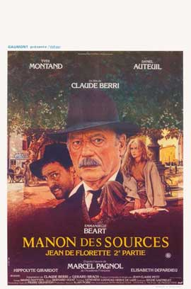 Manon of the Spring - 11 x 17 Movie Poster - Belgian Style A