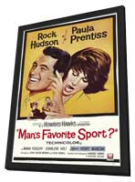 Man's Favorite Sport? - 27 x 40 Movie Poster - Style A - in Deluxe Wood Frame