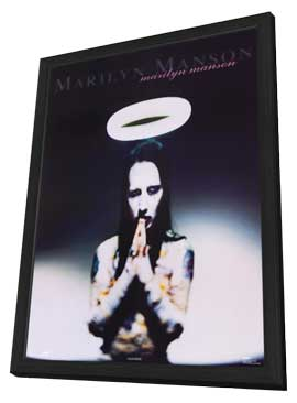 Marilyn Manson - 11 x 17 Music Poster - Style A - in Deluxe Wood Frame