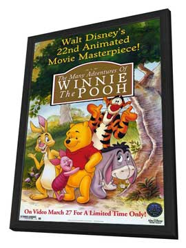 The Many Adventures of Winnie the Pooh - 11 x 17 Movie Poster - Style A - in Deluxe Wood Frame