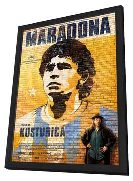 Maradona by Kusturica - 11 x 17 Movie Poster - Swedish Style A - in Deluxe Wood Frame
