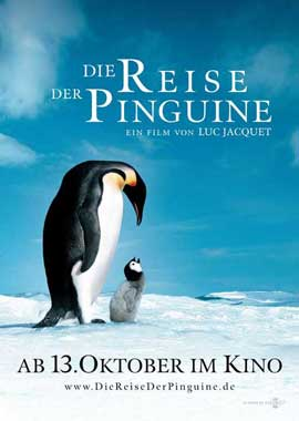 March of the Penguins - 27 x 40 Movie Poster - German Style A