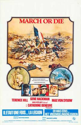 March or Die - 11 x 17 Movie Poster - Belgian Style A