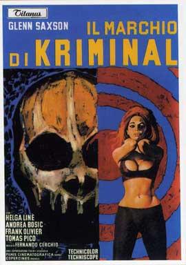 Marchio di Kriminal, Il - 11 x 17 Movie Poster - Italian Style A