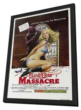 Mardi Gras Massacre - 27 x 40 Movie Poster - Style A - in Deluxe Wood Frame