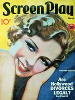 Margaret Sullavan - 11 x 17 Screenplay Magazine Cover 1930's Style A